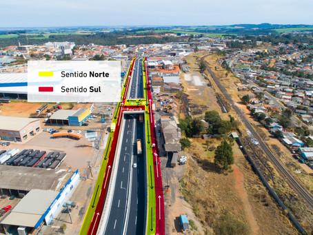 Mudança de sentido nas vias marginais do viaduto do Sabará é adiada por causa da chuva