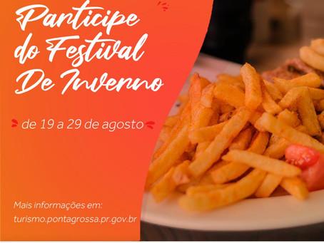 Festival Gastronômico de Inverno vai até domingo em PG