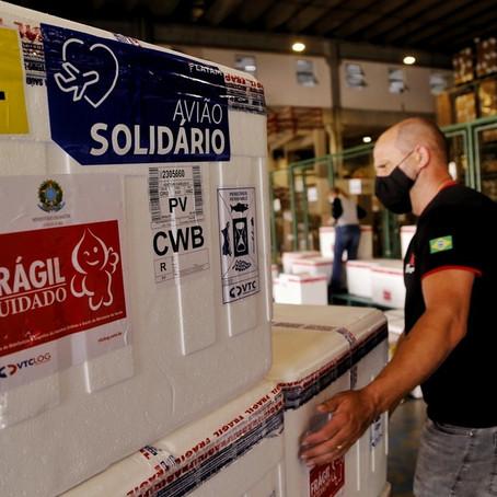 Paraná conta com mais de 242 mil  doses de vacinas da AstraZeneca e Coronavac