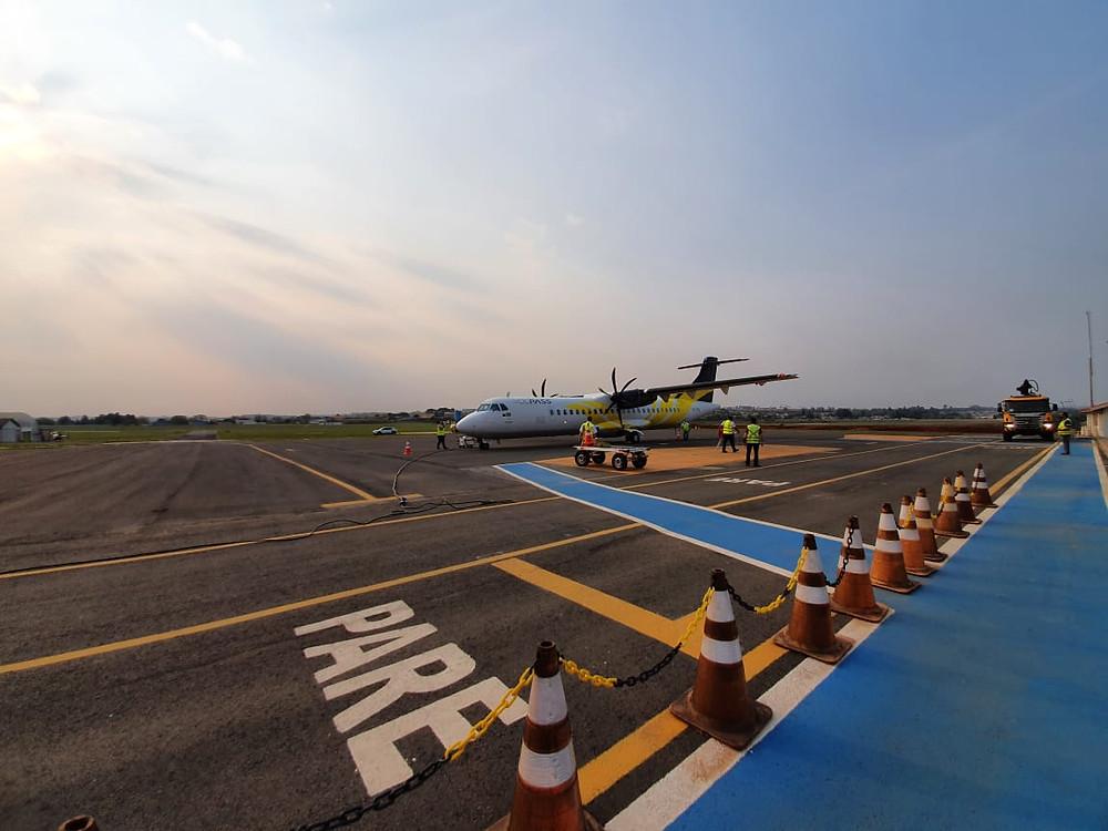 Aeroporto Sant'Ana. Foto: Divulgação/Arquivo/Prefeitura de Ponta Grossa
