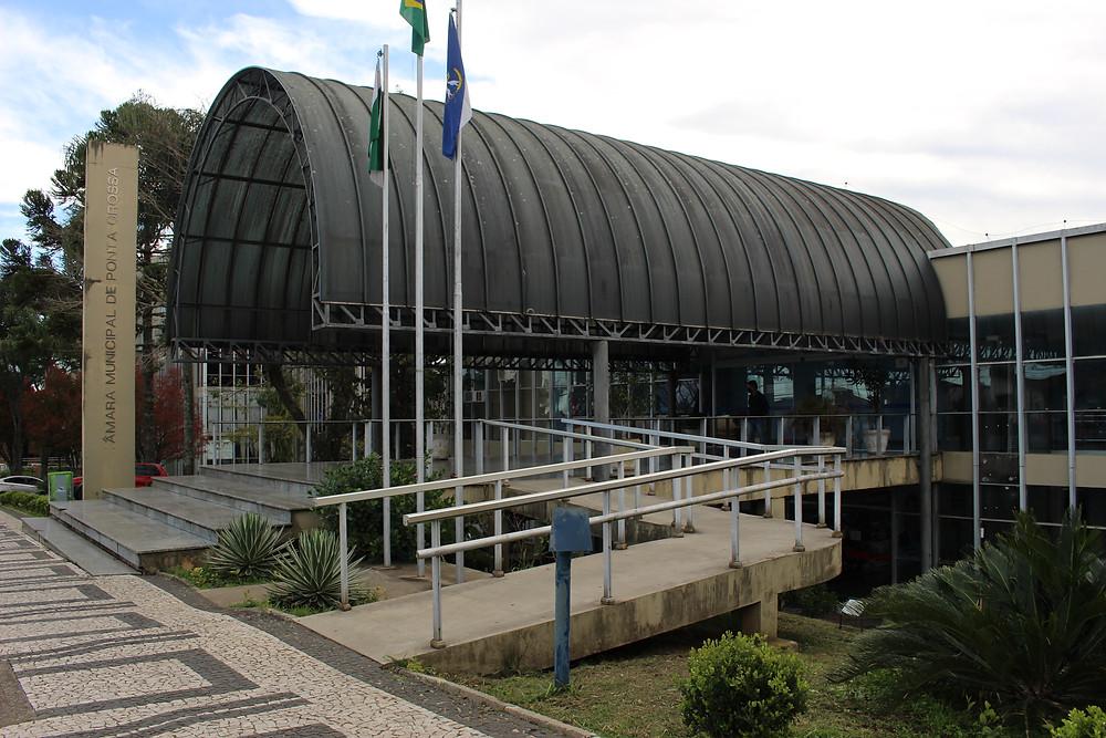 Câmara Municipal de Ponta Grossa. Foto: Divulgação / Letícia Araujo / Rádio CBN Ponta Grossa