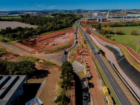 Concessionária libera tráfego na marginal Sul, sentido Curitiba, em obra na BR 376 em PG