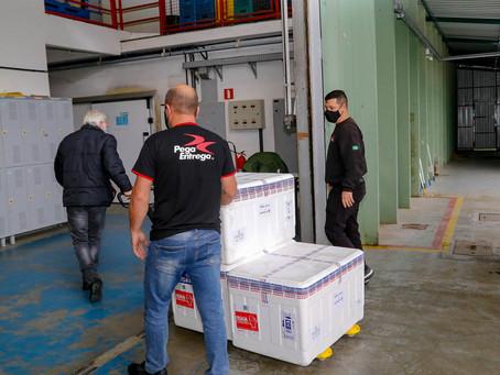 Mais de 230 mil doses de vacinas contra a Covid-19 chegam ao Paraná