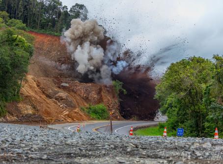 Concessionária realiza novas detonações de rochas na BR 376 nesta semana