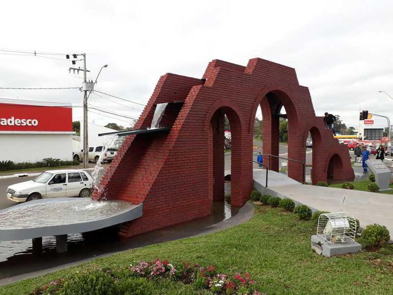 Praça do chafariz, em Uvaranas. Foto: Divulgação / Arquivo / aRede