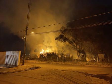 Julho é o mês com o maior número de incêndios ambientais em Ponta Grossa