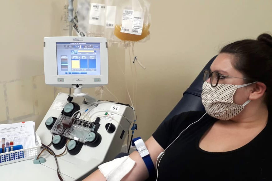 Hemepar inicia projeto-piloto com uso de plasma para tratar Covid-19. Foto: Divulgação/Hemepar