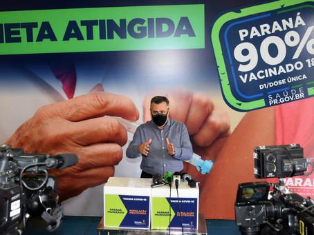 Paraná começa vacinação em adolescentes e doses de reforço em idosos na semana que vem
