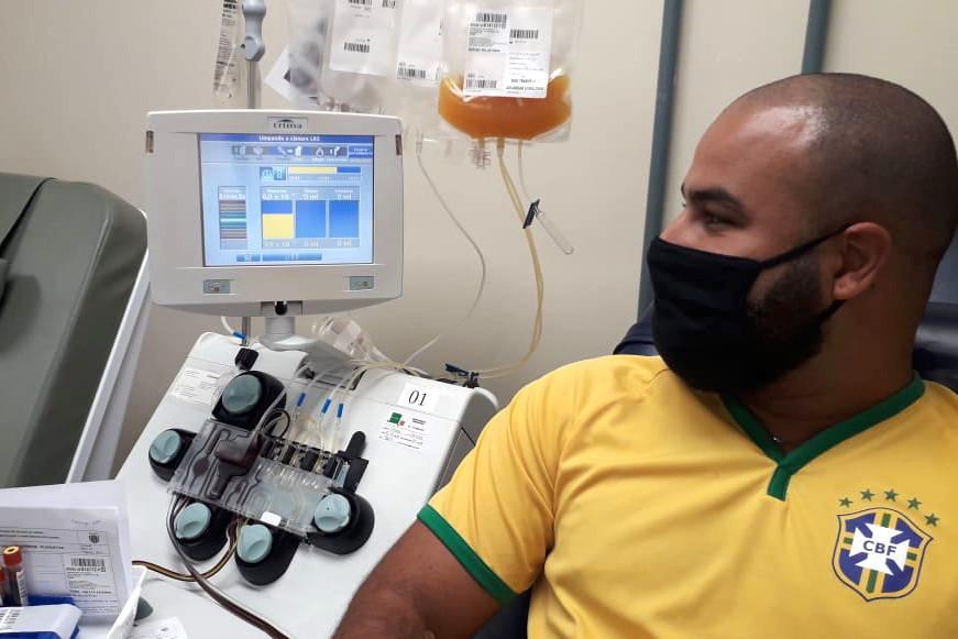 Hemepar inicia projeto-piloto com uso de plasma para tratar Covid-19. Foto: Divulgação / Hemepar