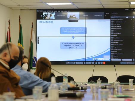 Paraná confirma transmissão comunitária da variante delta do coronavírus no estado