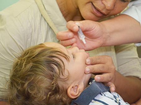 Campanha contra a Poliomielite é prorrogada em todo o Paraná