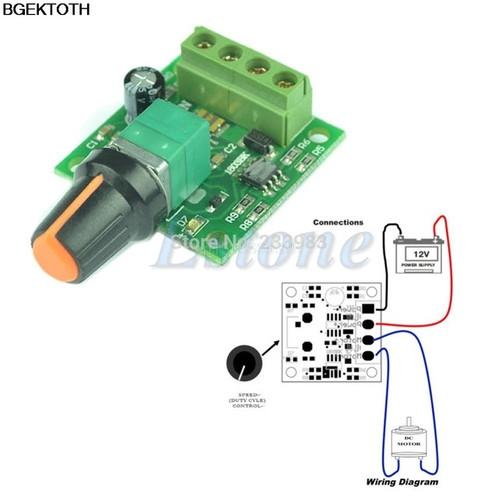 DC 1.8V 3V 5V 6V 12V 2A Low Voltage Motor Speed Controller PWM 1803B BR