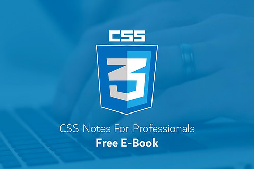 Image: CSS 3, Notes for professionals (Free E-Book)