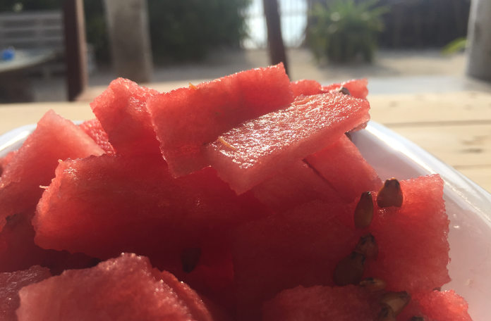 Fresh watermelon in the morning
