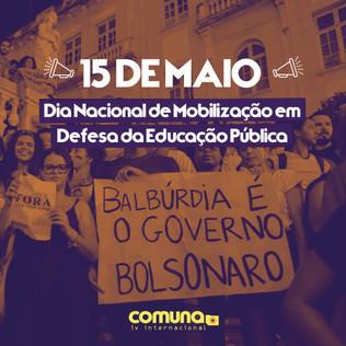 15 de Maio Dia Nacional de Luta em Defesa da Eduação Pública