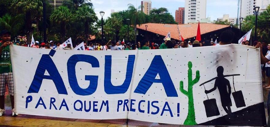 Marcha da Água, em Fortaleza. (Foto: Érica Pontes)