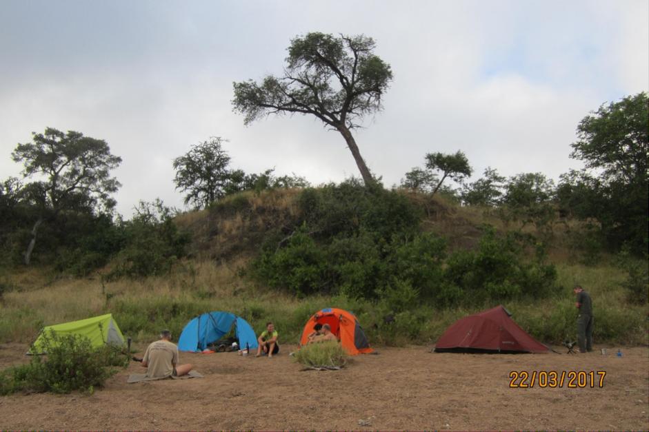 Overnight on the hiking safari