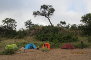 Overnight on the hiking safari
