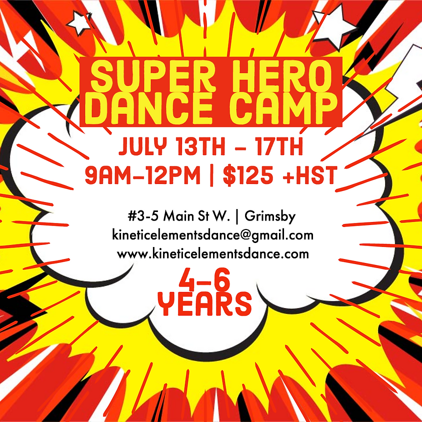 Super Hero Dance Camp