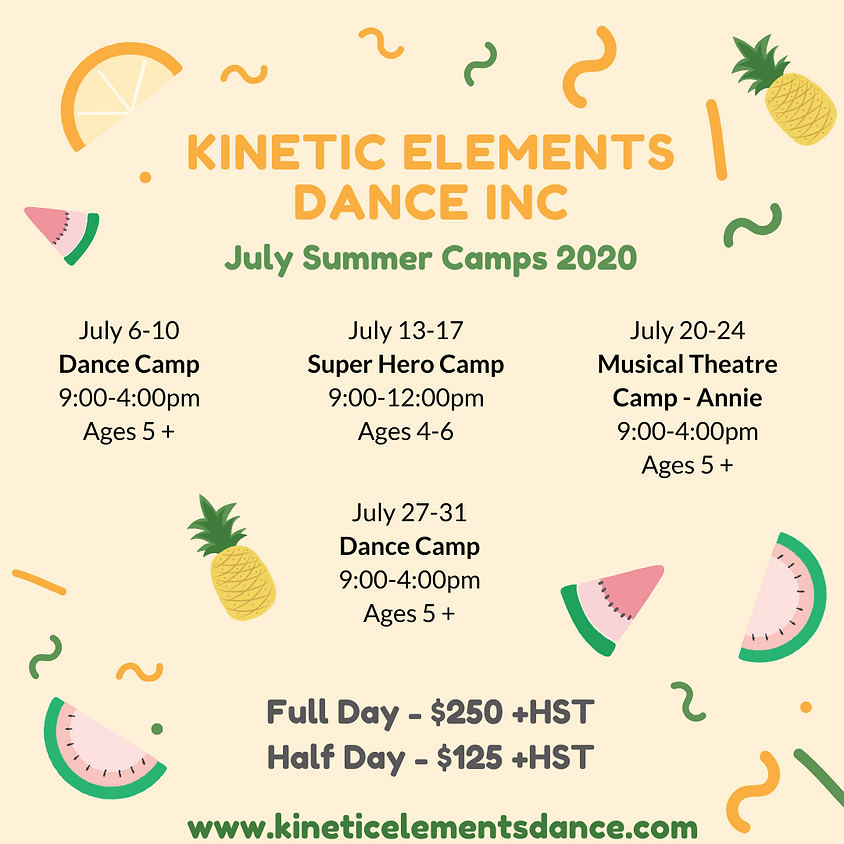 Dance Camp July 27-31, 2020