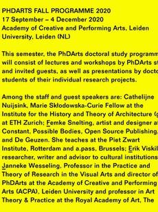 PhDArts Leiden 2020