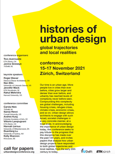 Histories of Urban Design Conference 2021