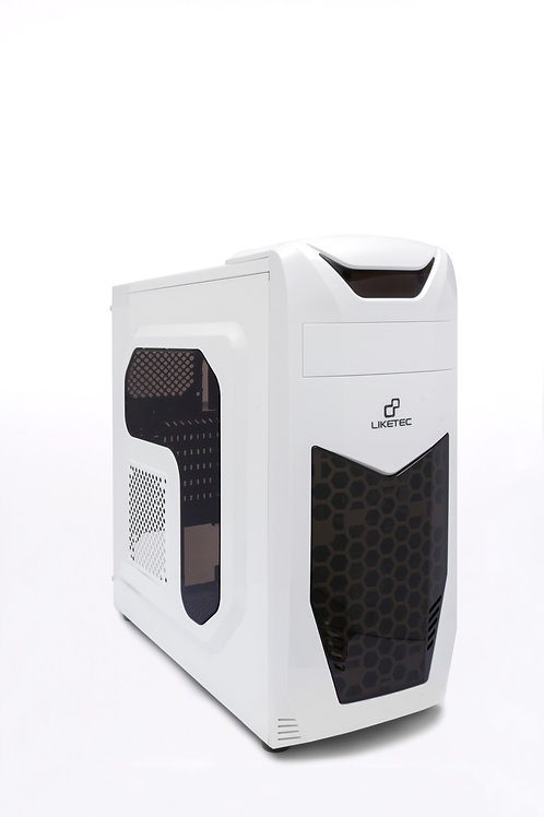 Gabinete Gamer Liketec X3 Branco (LED/USB3.0/Lat.Acríl.)