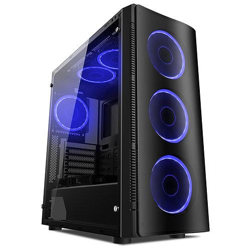 Gabinete  Liketec W1 Artic Blue (4xFANS/USB3.0/Frontal Acrílico/Lateral Vidro)