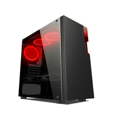 Gabinete Gamer Liketec 192-b (1xFAN/USB3.0/Frontal Metal/Lateral Vidro)