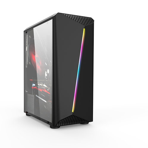 Gabinete Gamer Liketec Lighting RGB(1xFAN RGB/USB3.0/Lateral Vidro/FITA LED RGB)
