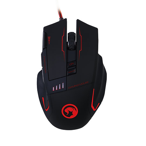 MOUSE GAMER MARVO G909 3200DPI 6D USB + MOUSE PAD GAMER