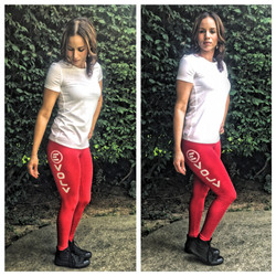 Red Premium Leggings