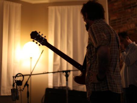 Tracking guitars.