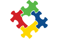 Autism Awareness Puzzle Piece with Heart