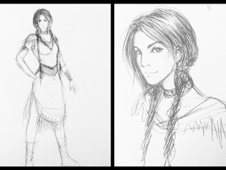 Sketches of the chief's daughter