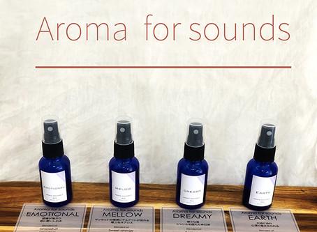 販売開始!!Aroma for sounds:<音×香り>  音をイメージして作り上げたアロマミスト