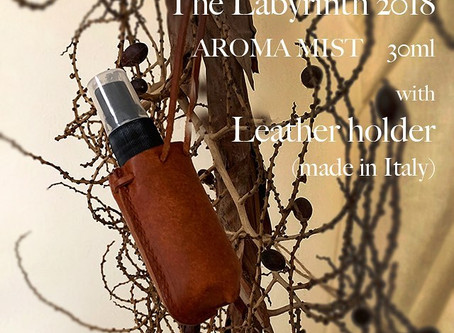 The Labyrinth 2018 Aroma Mist with Leather holder(made from pueblo):web shop販売開始!!