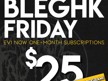 BLEGHk Friday and NEW WARM-UP PROGRAM!