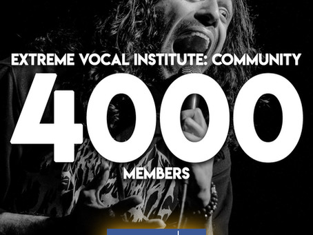 Extreme Vocal Institute: Community reaches 4,000 members