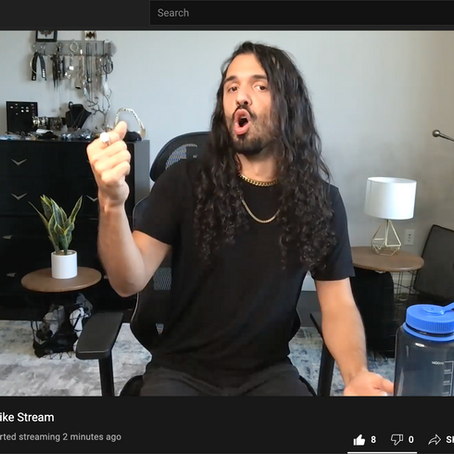 Learn screaming with David on YouTube live streams