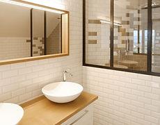 création de 2 salles-de-bains, transformation d'un étage