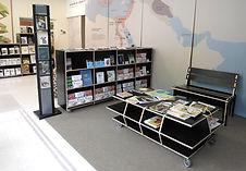 design et création de meubles d'accueil pour le musée botanique de Lausanne