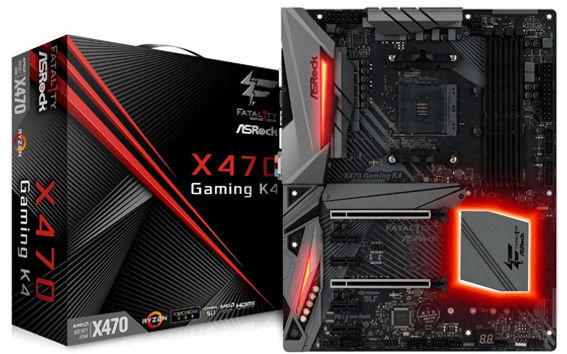 ASRock Fatal1ty X470 Gaming K4 and X470 Master SLI Pictured