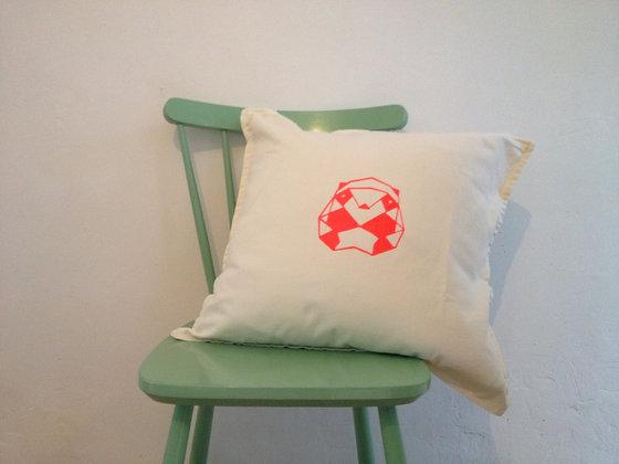 Panda cushion - fluo pink