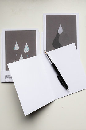 Tears can be beautiful too - 2 postcards
