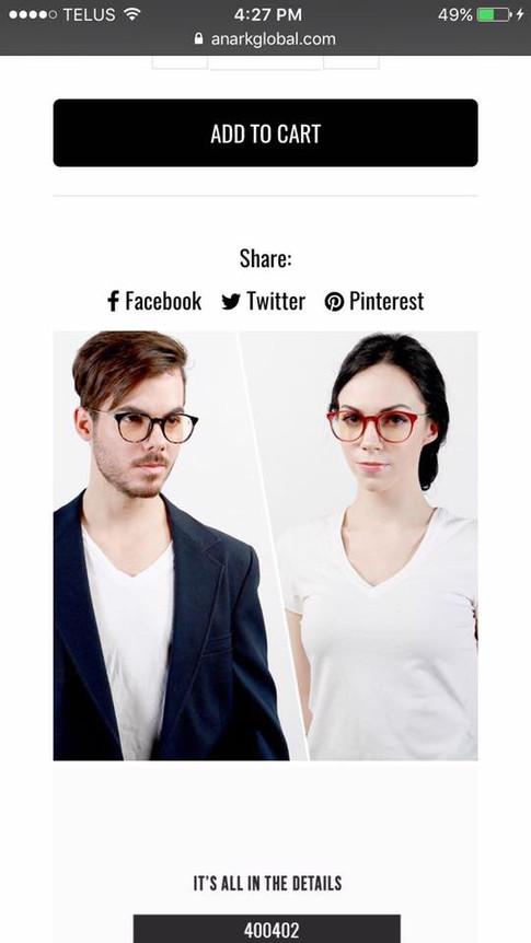 ANARK GLASSES PRODUCT PHOTOS