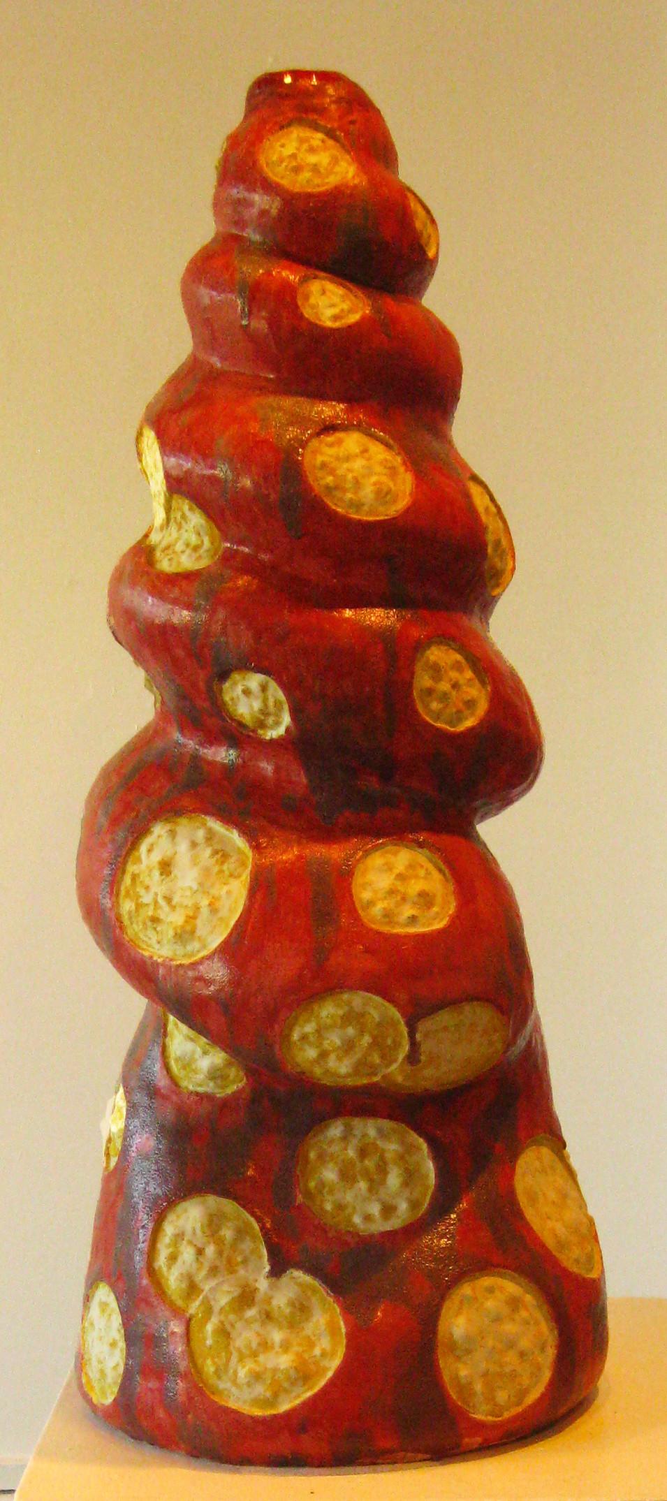red spiral mushroom