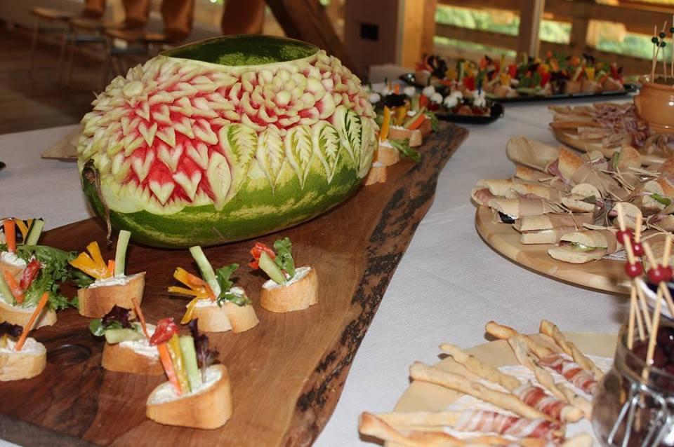 Geschnitzte Wassermelone