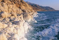 Dead Sea Salt Formations Jordan