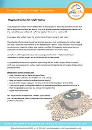 Playsafe Inspection & Surface Impact Tes